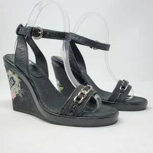 Coach Leatherware Ellette Cork Wedge Sandals